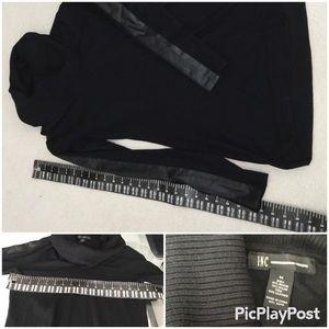 INC Long Sleeves, Shawl neck Black SZ.M